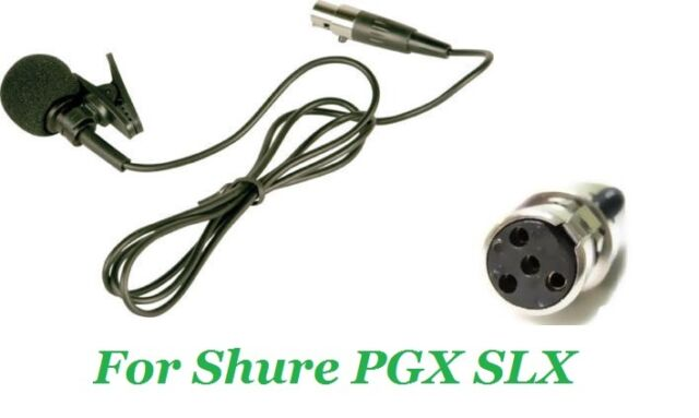 Black Lapel Mic Lavalier Mic For Shure Wireless Mic with TA4F SLX PGX