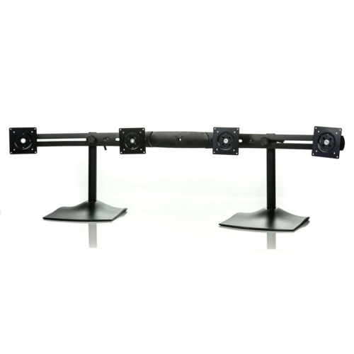 "Ergotron DS100 55/"" Crossbar Quad 4 Monitor Stand 33-284-200 Supports 19/"" Monitor"