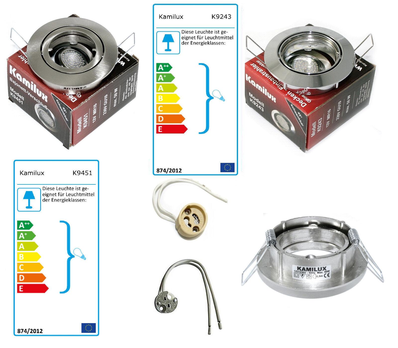 Decken Einbauring Lisa für Halogen   Led Leuchtmittel Leuchtmittel Leuchtmittel mit GU10 Fassung b52967