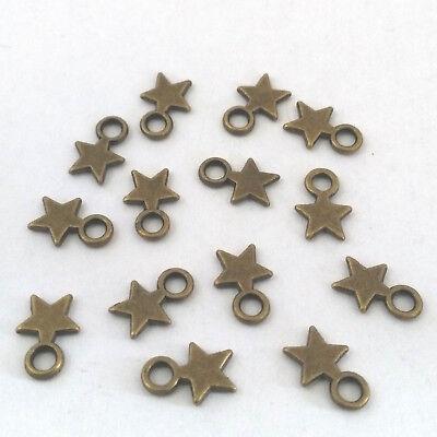 Pack Von 60 Anhänger Bronze Perlen Anhänger Sterne 10,5x 7,5mm Nickelfrei Perlen Creativsets