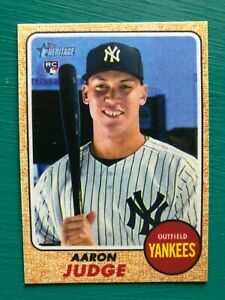 2017-Topps-Heritage-AARON-JUDGE-Yankees-Rookie-Baseball-REPRINT-Card-214-MINT