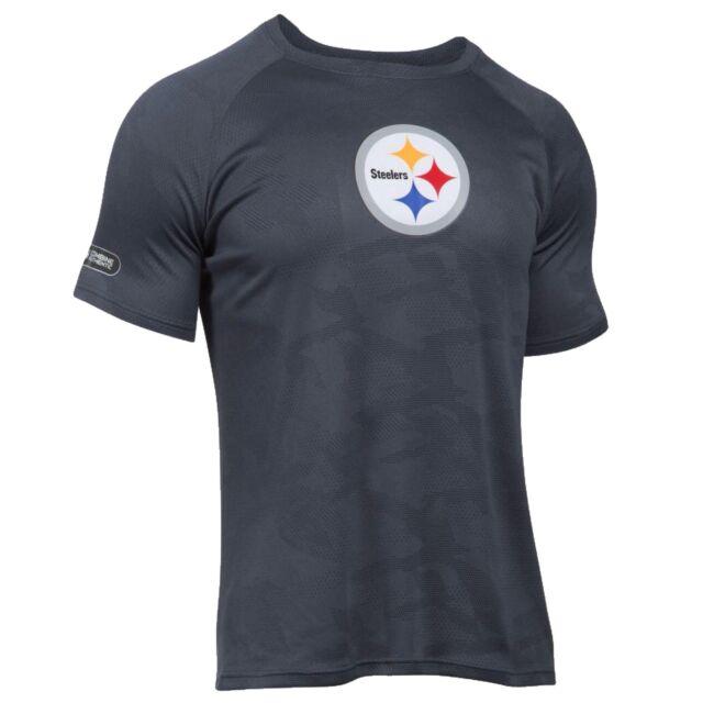 d79836c1d Pittsburgh Steelers Under Armour NFL Combine Authentic Jacquard Tech L T -Shirt