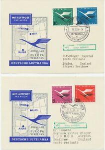 Bon CœUr République Fédérale De 1955 Absorption De La Lh Europe Trafic M. Convair Cv-340 à Londres-afficher Le Titre D'origine