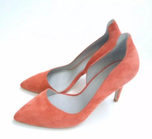 Uk Salmon Court Shoes Cut taglia used Pink Reiss Alberta Twice out 40 Designer wfHZ8qc