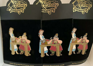 Disney Auctions Belle & Maurice Father's Day Pin LE 100 Artist Proof Set of 3