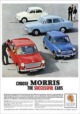 Austin // Morris 1100 MORRIS MINOR POSTER 1960/'s Picture Print Poster