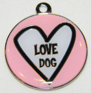 Details about Color Filled Love Dog Pet Tag Free SSH US Shiny Tag