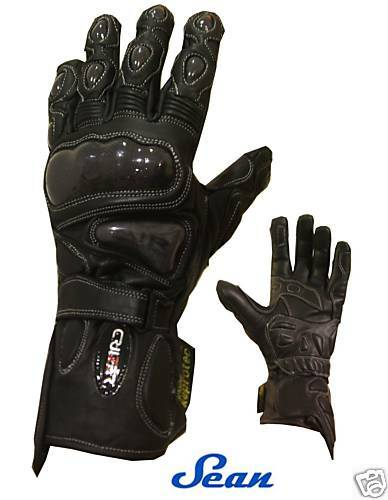 Guanti tecnici moto estivo invernale protezioni in carbonio ed air bag nuovo
