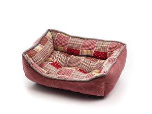 panier rectangulaire patchwork pour chien chat matelas lit canap coussin ebay. Black Bedroom Furniture Sets. Home Design Ideas