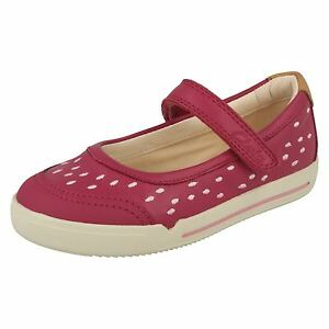 c8fb2332bb4 Image is loading Clarks-Girls-Lilfolk-Lou-Inf-Pink-Leather-Smart-