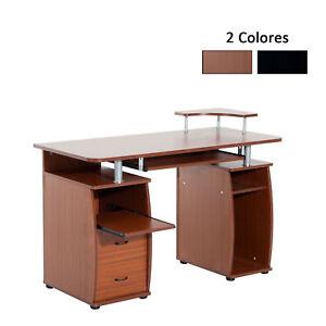 Escritorio Oficina Madera.Homcom Mesa De Ordenador Pc Mobiliario Oficina Escritorio Madera