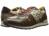 New Robert Graham Men's Amazon 4 Snake Brown Leather Sneakers Size 8.5 D Italy