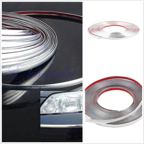 Bumper Door Edge Lip Guard Chrome Decoration Protector Moulding Trim Strip Car