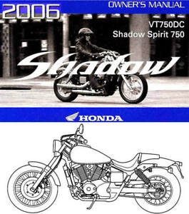 2006 honda vt750dc shadow spirit 750 motorcycle owners manual vt750 rh ebay co uk 2002 honda vt750dc owners manual honda vt750c service manual