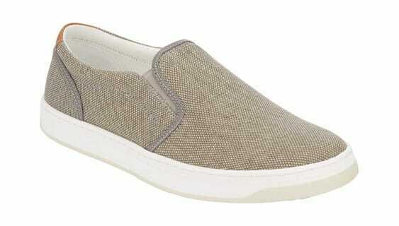 Lucky Brand Men's Styles Slip-On Sneaker Grey Washed Canvas Sneakers