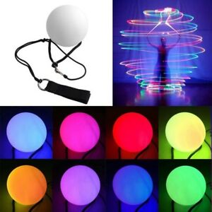 POI-Palla-Sfera-Bolas-LED-Luce-Giocoleria-Guscio-Bianco-Gioco-Divertente-Regalo