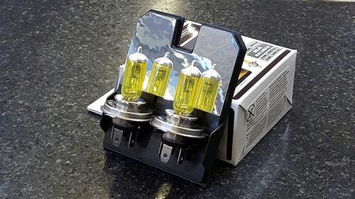 Michiba H4 12v 55w 3000K Gold Vision Bulbs Yellow