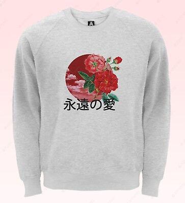 Intelligente Il Giappone Amore Per Sempre Felpa Kanji Ying Yang Maglione Fiori Sentimenti Bandiera Top-mostra Il Titolo Originale