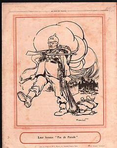 """WWI Caricature Fridolin Pickelhaube/Soldat Paysan Belgique 1914 ILLUSTRATION - France - Commentaires du vendeur : """"OCCASION"""" - France"""