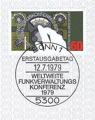 Brd 1979: Funkverwaltungskonferenz Nr. 1015 Mit Bonner Sonderstempel! 1a! 1512