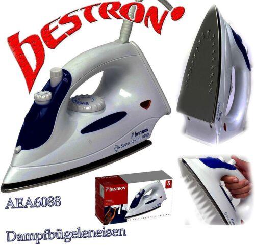 Bestron AEA6088 Designer Dampf Bügeleisen 1800W 12g//Min Edelstahlsohle B1
