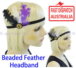 20s-Great-Gatsby-Party-Costume-Head-Piece-Hair-Band-Flapper-Feather-Headband