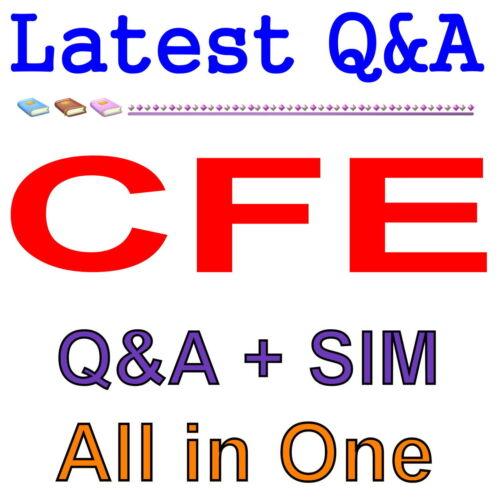 Certified Fraud Examiner CFE Exam Q/&A PDF+SIM
