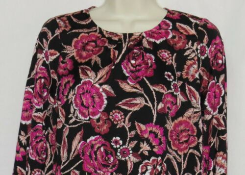 XL Maternity Blouse a:glow Top NEW Bell Sleeve NWT Black Pink Floral X LARGE 16