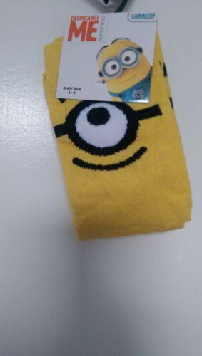 BNWT Ladies//Girls 4-8 Novelty Minion Cotton Blend Socks Xmas Christmas
