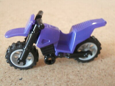 LEGO Moto Violet Purple Dirtbike Motorbike   Neuf Motorcycle