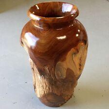 45cm / 8kg Large & Heavy Unique Hand Carved Teak Root Wood Vase _003 (Am002)
