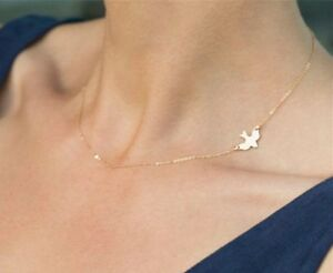 Ladies-Gold-Necklace-with-a-Dove-Motive