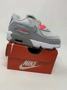 Image is loading BABY-GIRL-Nike-Air-Max-90-Gray-amp- 32a1bd24b