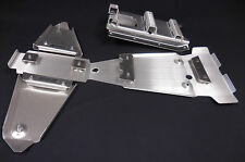 SUZUKI LTZ400 FRAME SKID PLATE & A-ARM PLATE SET.125&.190 SWINGARM Z400 (09-14)
