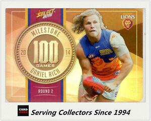 2015-AFL-Champions-Milestone-Holofoil-Card-MG9-Daniel-Rich-Brisbane