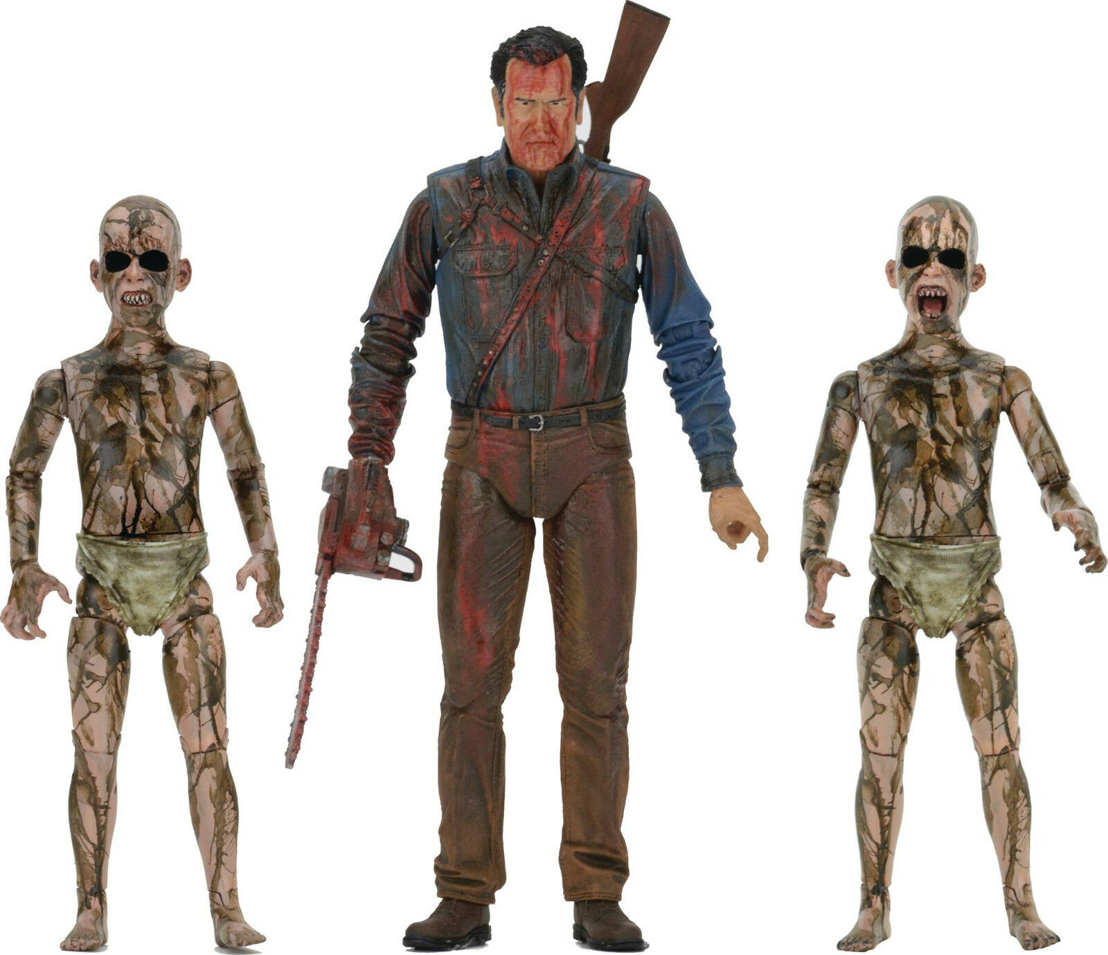 Ash vs Evil Dead BLOODY BLOODY BLOODY ASH vs DEMON SPAWNS action figure setArmy DarknessNECA 5c6a98