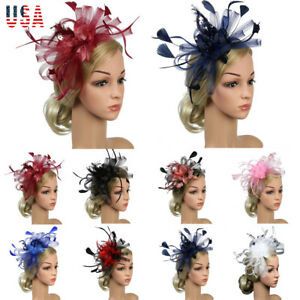 Womens-Sinamay-Fascinator-Cocktail-Party-Hat-Wedding-Church-Kentucky-Derby-Dress