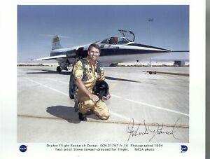 "Nasa F-104N ""Starfighter"" Testpilot Stephen D. Ishmael original signed Photo USA"