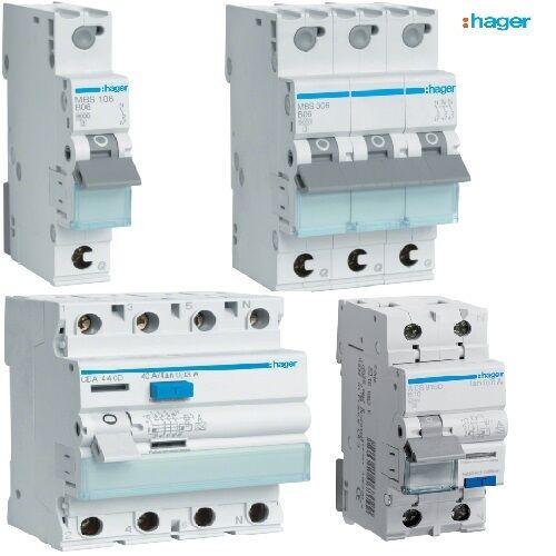 Sicherungsautomaten - Schutzschalter - LS Schalter - Fi Schalter - Fi LS -HAGER  | Offizielle