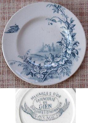 Dinette Faience De Gien Série Paysages Assiette Plate à Dessert