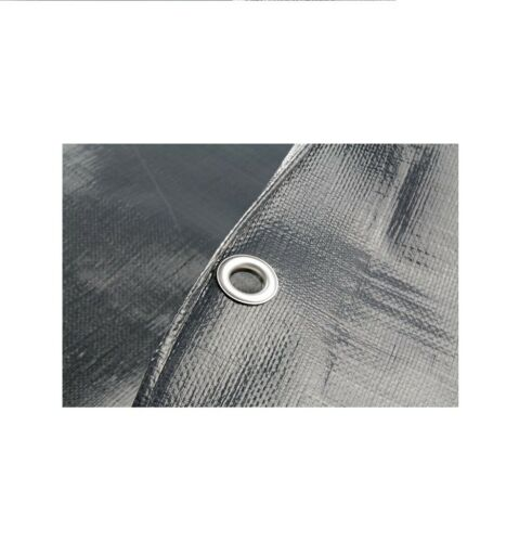 Heavy Duty Reinforced Mesh Grey Waterproof Tarpaulin Cover Mono Sheet  200GSM