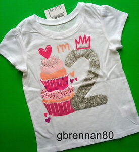 NEW Happy BIRTHDAY Girls Shirts 9-12 12-18 18-24 Months 1st 2nd Gift PARTY