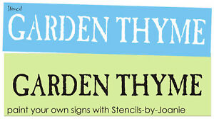 Details about Stencil Primitive Garden Thyme Potting Seed Herb Country  Porch Yard Seed Signs
