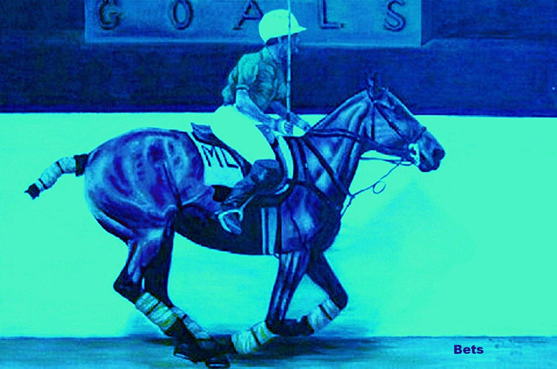 Impresión de Giclee de Caballo Polo Arte calentando artista apuestas  de impresión de 5 Colors Tamaño 12 X 16  Las ventas en línea ahorran un 70%.