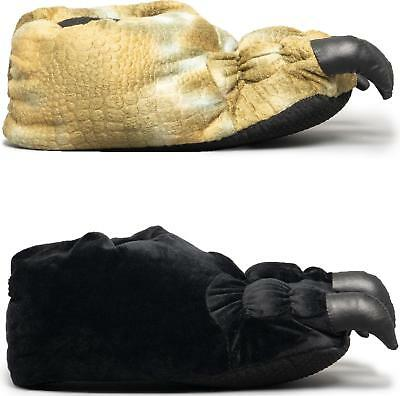 House of Slippers BEAR Mens Warm Cosy Slip On Character Novelty Slippers Black
