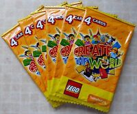 SAINSBURYS LEGO CARDS 6 PACKS -24 CARDS- CREATE THE WORLD TRADING NEW UNOPENED