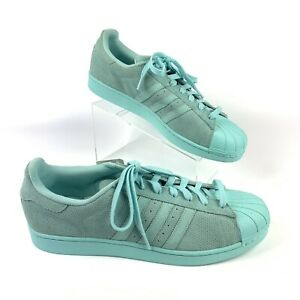 Details about Adidas Originals Superstar RT Monochromatic Clear Aqua Suede AQ4916 Sz 14