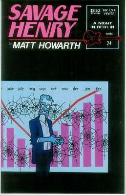 Savage Henry # 24 (matt Howarth) (rip Off Press, Usa, 1992) GroßE Auswahl;