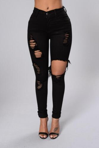 WOMENS  HIGH WAISTED GREAT QUALITY RIPPED STYLES SKINNY STRETCH  SIZE 6-16UK