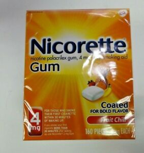 NICORETTE-GUM-4mg-FRUIT-CHILL-160-PIECES-EXP-02-2022-1YR-PLUS